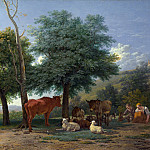 Farm Animals with a Boy and Herdswoman, Karel Dujardin