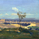 Avignon from the West, Jean-Baptiste-Camille Corot