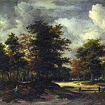 A Road leading into a Wood, Jacob Van Ruisdael