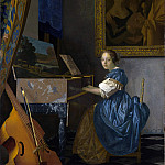 Part 4 National Gallery UK - Johannes Vermeer - A Young Woman seated at a Virginal