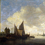 Part 4 National Gallery UK - Jan van Goyen - The Mouth of an Estuary with a Gateway
