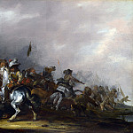 Jacob Weier – Cavalry attacked by Infantry, Part 4 National Gallery UK