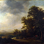 Jan de Lagoor – A Woody Landscape with a Stag Hunt, Part 4 National Gallery UK