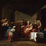 Jean-Francois Pierre Peyron – Belisarius receiving Hospitality from a Peasant, Part 4 National Gallery UK
