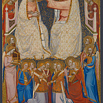 Jacopo di Cione and workshop – The Coronation of the Virgin – Central Main Tier Panel, Part 4 National Gallery UK