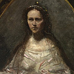 Jean-Baptiste Camille Corot – Sketch of a Woman in Bridal Dress, Part 4 National Gallery UK