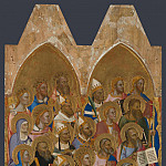 Jacopo di Cione and workshop – Adoring Saints – Left Main Tier Panel, Part 4 National Gallery UK