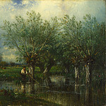 Part 4 National Gallery UK - Jules-Louis Dupre - Willows, with a Man Fishing