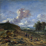 Part 4 National Gallery UK - Jan Wijnants - A Landscape with a High Dune and Peasants on a Road