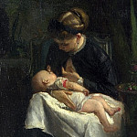 Part 4 National Gallery UK - Jacob Maris - A Young Woman nursing a Baby