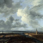 A Panoramic View of Amsterdam looking towards the IJ, Jacob Van Ruisdael