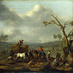 Part 4 National Gallery UK - Jan Lingelbach - Peasants loading a Hay Cart