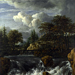 A Waterfall in a Rocky Landscape, Jacob Van Ruisdael