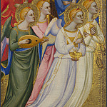 Jacopo di Cione and workshop – Seraphim, Cherubim and Adoring Angels, Part 4 National Gallery UK