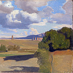Jean-Baptiste Camille Corot – The Roman Campagna, with the Claudian Aqueduct, Part 4 National Gallery UK