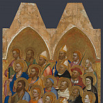Jacopo di Cione and workshop – Adoring Saints – Right Main Tier Panel, Part 4 National Gallery UK