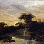 Jacob de Wet the Elder – A Landscape with a River at the Foot of a Hill, Part 4 National Gallery UK