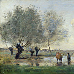 Jean-Baptiste Camille Corot – Cows in a Marshy Landscape, Part 4 National Gallery UK