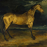 A Horse frightened by Lightning, Jean Louis Andre Theodore Gericault
