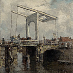 A Drawbridge in a Dutch Town, De Schryver Louis Marie