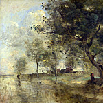 Jean-Baptiste Camille Corot – A Flood, Part 4 National Gallery UK