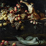 Jan Roos – Still Life of Fruit and Vegetables with Two Monkeys, Part 4 National Gallery UK