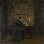 Part 4 National Gallery UK - Jozef Israels - An Old Man writing by Candlelight