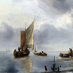 Part 4 National Gallery UK - Jan van de Cappelle - A Small Vessel in Light Airs, and Another Ashore
