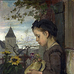 Part 4 National Gallery UK - Jacob Maris - A Girl seated outside a House