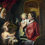 The Virgin and Child with Saint John and his Parents, Jacob Jordaens