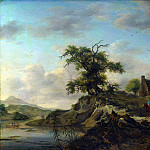 Jan Wouwermans – A Landscape with a Farm on the Bank of a River, Part 4 National Gallery UK