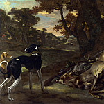 Part 4 National Gallery UK - Jan Baptist Weenix - A Huntsman cutting up a Dead Deer, with Two Deerhounds