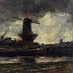 Part 4 National Gallery UK - Jacob Maris - Three Windmills