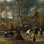 Skittle Players outside an Inn, Jan Havicksz Steen