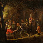 Peasants merry-making outside an Inn, Jan Havicksz Steen