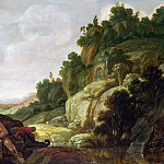 Jacob Pynas – Mountain Landscape with Narcissus, Part 4 National Gallery UK