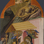 Jacopo di Cione and workshop – The Nativity and Annunciation to the Shepherds, Part 4 National Gallery UK