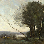 The Leaning Tree Trunk, Jean-Baptiste-Camille Corot