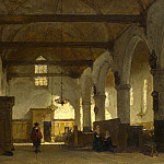 The Interior of the Bakenesserkerk, Haarlem, Johannes Bosboom