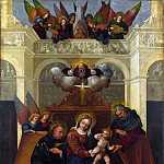 Lodovico Mazzolino – The Holy Family with Saint Nicholas of Tolentino, Part 4 National Gallery UK