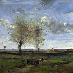 A Wagon in the Plains of Artois, Jean-Baptiste-Camille Corot
