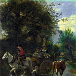 Part 4 National Gallery UK - Jan Siberechts - A Cowherd passing a Horse and Cart in a Stream