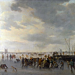 A Scene on the Ice near Dordrecht, Jan Van Goyen