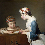 Part 4 National Gallery UK - Jean-Simeon Chardin - The Young Schoolmistress