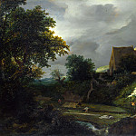 A Bleaching Ground in a Hollow by a Cottage, Jacob Van Ruisdael