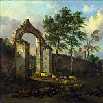 Part 4 National Gallery UK - Jan Wijnants - A Landscape with a Ruined Archway