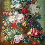 Jan van Os – Fruit and Flowers in a Terracotta Vase, Part 4 National Gallery UK