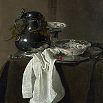 Part 4 National Gallery UK - Jan Jansz. Treck - Still Life with a Pewter Flagon and Two Ming Bowls