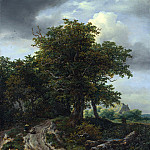A Road winding between Trees towards a Distant Cottage, Jacob Van Ruisdael