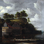 Three Watermills with Washerwomen, Jacob Van Ruisdael